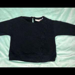 Zara baby girls black sweater